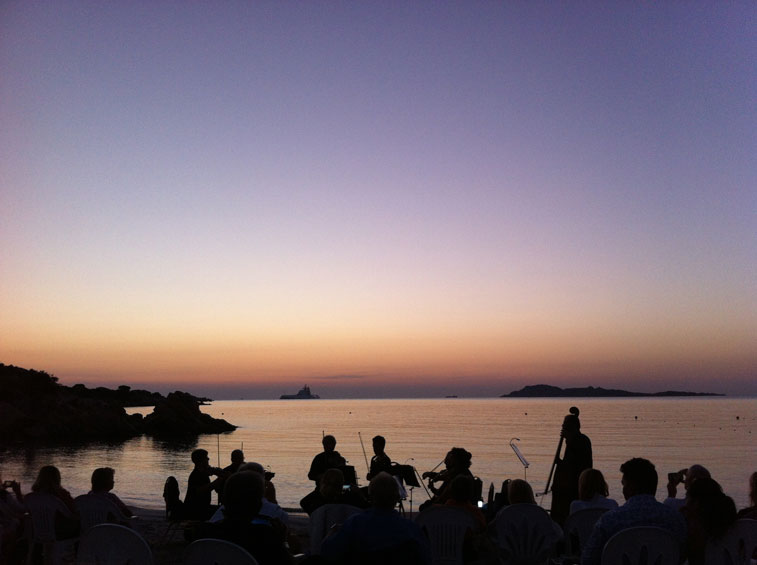 Concert at Dawn on Capriccioli Beach 17