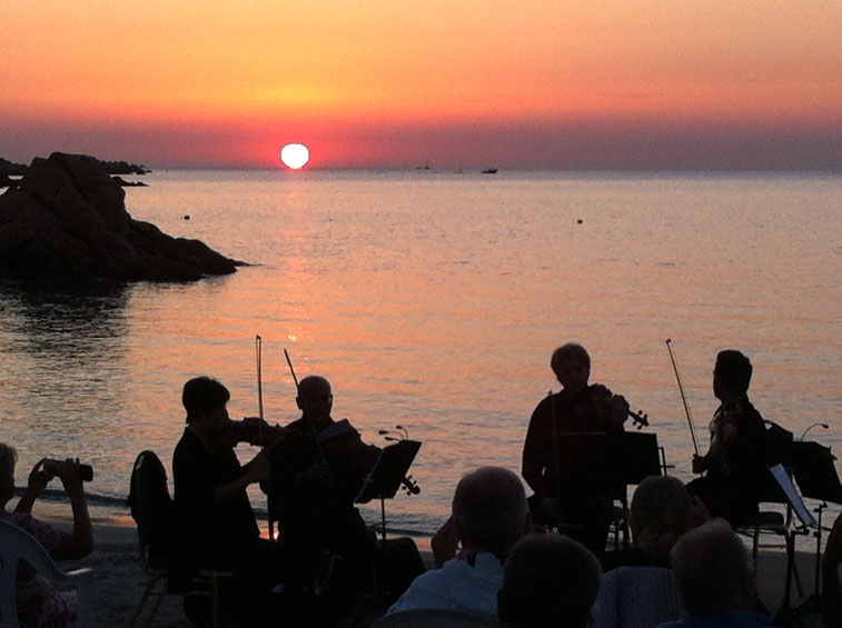 Concert at Dawn on Capriccioli Beach 23